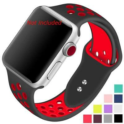 Perforated Silicone Watch Strap Band For Apple iWatch 1 2 3 4 38/40 42/44 mm