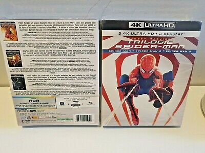 Spiderman Trilogy 1-3 4K UHD + Blu-Ray 3-Movie Collection BoxSet New and Sealed+
