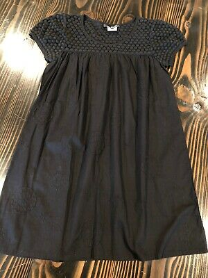 Lili Gaufrette Black Dress New Without Tags Embriodered Lace Top Xs 14 / 16