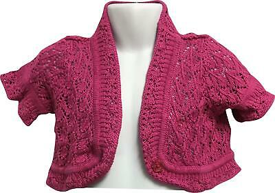 PRE-OWNED Girls Dunnes Pink Knitted Cardigan Age 4 Years PJ302