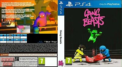 Sony Ps4 Replacement box - Case + Custom - Inlay - Gang Beasts