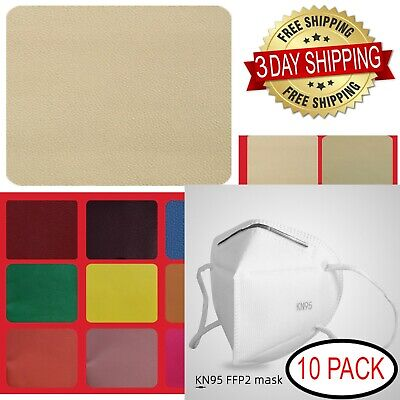 3 DAYS FREE SHIPPING MEDIUM BEIGE GENUINE LEATHER REPAIR KIT PATCHES