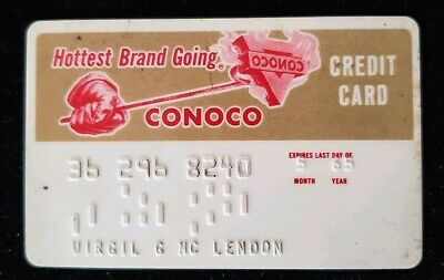 CONOCO Hotest Brand Going Credit Card exp 1965 ♡Free Shipping♡cc197