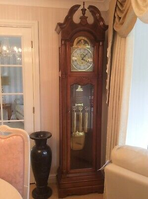HOWARD MILLER GRANDFATHER longcase clock QUICK SALE - HOUSE CLEARANCE
