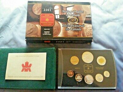 """2001 National Ballet Of Canada """"50Th"""" Anniversary Proof Set """"Silver/Gold Plated"""""""