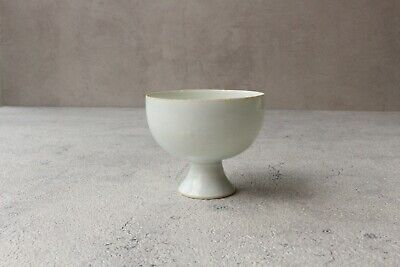 CCVP41 Song dynasty Chinese Antique blune whithe porcelain stem cup 高足杯