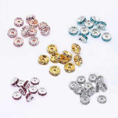 DIY Jewelry Accessories charm Loose Spacer Beads with beautiful Rhinestone
