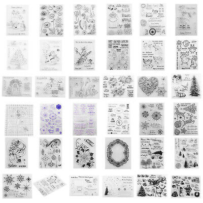 Silicone Clear Stamp Transparent Rubber Stamps DIY Handbook Scrapbooking Craft