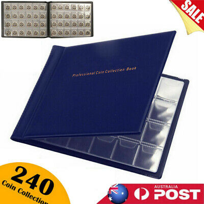 240 Storage Collection Money Penny Pockets Album Book Collecting Coin Holders AU