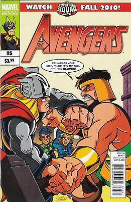 THE AVENGERS #5 MARVEL SUPER HERO SQUAD VARIANT (2010)  Animated Series