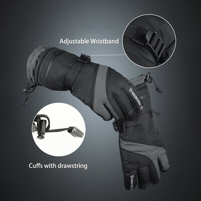 -40℃/-40℉ Waterproof Fleece Ski Gloves Winter Warm Snowboard Thermal Motorcycle