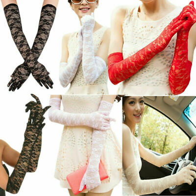 Sexy Lace Gloves Women Long Weddings Gloves Arm Elbow Length Bridal Accessories