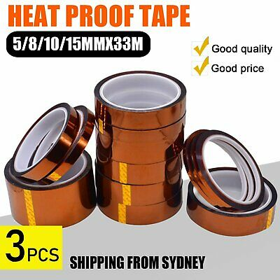 Heat Proof Thermal Tape Heat Resistant Sublimation Adhesive 5/8/10/15mmx33m AU