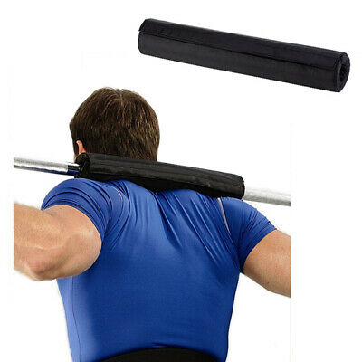 Barbell Pad Gel Supports Weight Lifting Pull Up Gripper Squat Olympic BLACK DBX