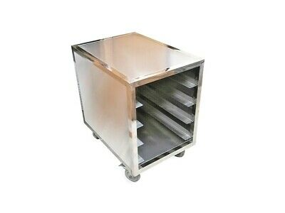 4 Tier Enclosed Mobile Bread Racking Trolley Suit Baking Pastry Tray 60*40cm
