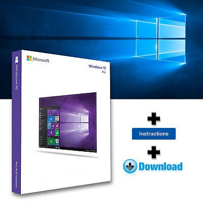 Windows 10 Pro Professional 32-64bits Licencia digital - Entrega en 3 segundos