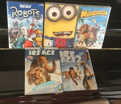 DVD Sammlung ANIMATION KINDER FILME *** 5 Filme