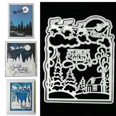 Xmas Metal Cutting Dies DIY Craft Stencil Paper Card Decor Die Cuts Scrapbook