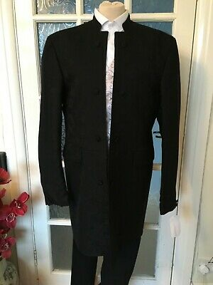 Classic Black Patterned Nouveau Jacket Wedding/Formal 40L