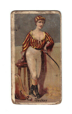 N166 Goodwin & Co Occupations For Women Old Judge Tobacco Card Jockey