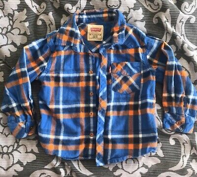 Boys Levis's Checked Shirt Age 2 Years (fits 18-24 Months Or 1-2 Years)