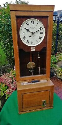#041 ANTIQUE 1941 GLEDHILL BROOK FUSEE TIME RECORDER/CLOCKING IN MACHINE No60442