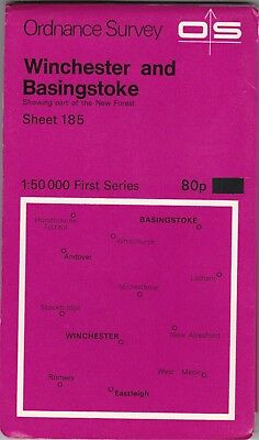 Ordnance Survey Map Sheet 185 Winchester & Basingstoke 1974 First Series OS