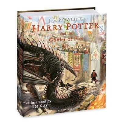 Harry Potter and the Goblet of Fire Illustrated Edition 9781408845677 - NEW