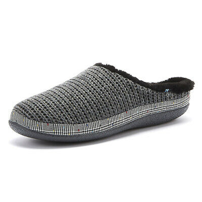 TOMS Ivy Womens Forged Iron Grey Knit Slippers Ladies Casual Home Warm Shoes
