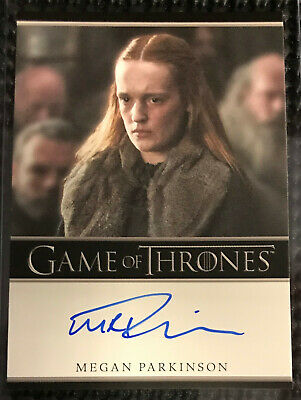 Megan Parkinson - Game of Thrones Inflexions Autograph card Bordered