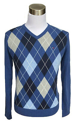 $0 Free Ship Tommy Hilfiger Men Classic Fit V-Neck Long Sleeve Sweater