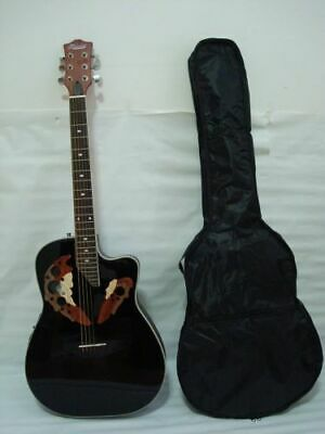 Free Gig Bag 6 string Acoustic Electric Guitar, Black