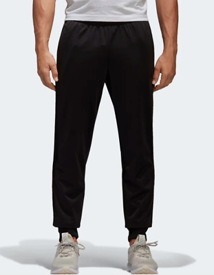 Adidas Men's Essentials Joggers Size Large Black Tricot Track Pants Tapered New