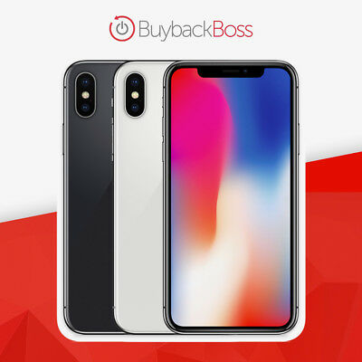 iPhone X | 64GB 256GB | Unlocked ATT Verizon Sprint T-Mobile -12-Month Warranty!