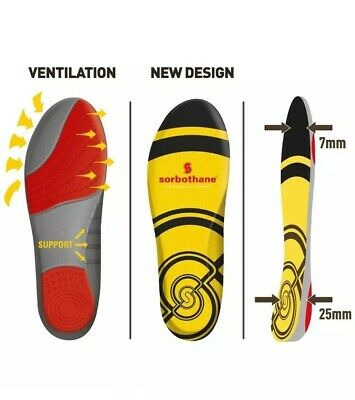 Sorbothane Double Strike Footwear Insoles (UK Size 7 EU 41)