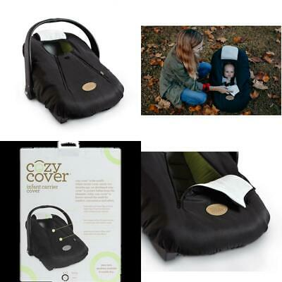 Cozy Cover Infant Carrier Cover, Secure Baby Car Seat Cover, Black