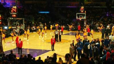 Four 4 Lakers Tickets Lower Section 106 Row 18 vs Denver Nuggets Staples Center