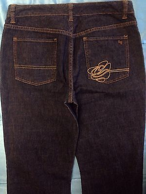 Zoo York Womens Jeans Soft Dark Denim Embroidered Boot Cut Size 28 x 32