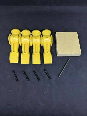 Tornado Foosball men- Yellow- Set of 4 with roll pins, tool and support block