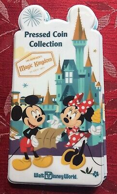 Disney World Pressed Coin Penny Collection Holder Book 4 Parks New