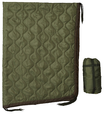 USGI Military Style All Weather Poncho Liner / Woobie Blanket in OD Green