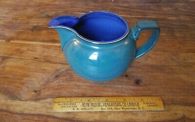 Denby Harlequin creamer small jug Green cobalt blue 3.5 made in  England