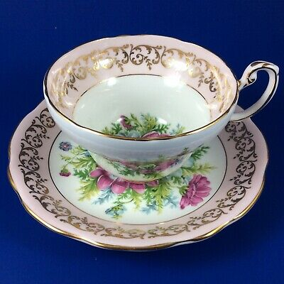 Foley Pink And White Lenten Rose Bone China Tea Cup And Saucer