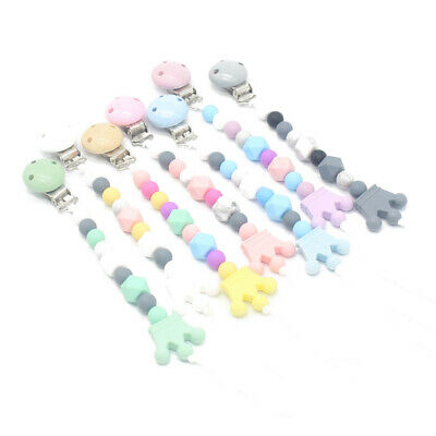 Baby Soother Silicone Pacifier Clip Crown Pacifier Chain Holder Teething Clip