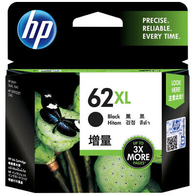 HP Genuine 62 / 62XL High Capacity For ENVY 5540/ 5640/ 7640/ OFFICEJET 5740