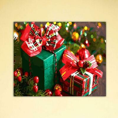 Gift Box Frameless DIY Digital Oil Painting By Numbers Canvas Wall Picture Decor
