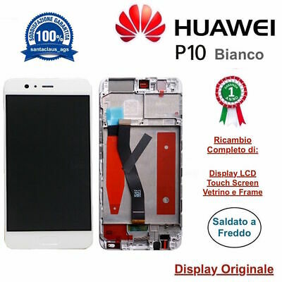 Display Originale LCD Touch Screen Midd Frame HUAWEI P10 VTR-L09 L29 AL00 Bianco