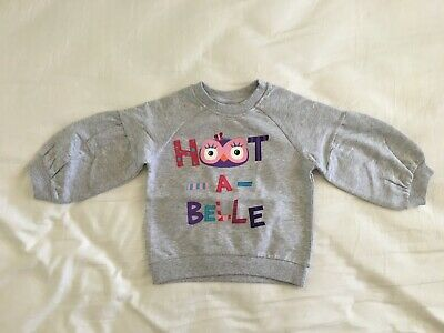 Giggle And Hoot - Girls Hootabelle Ruffle Sleeve Jumper - Size 2 - Bnwt