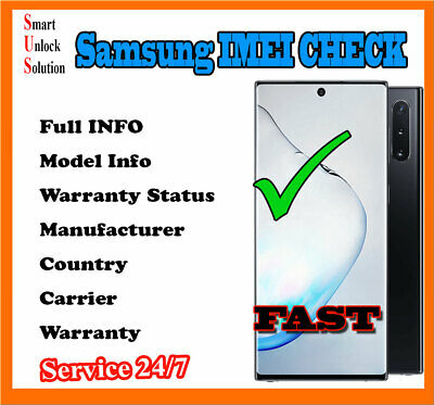 Samsung IMEI info Status Check Carrier Network Country Warranty Fast
