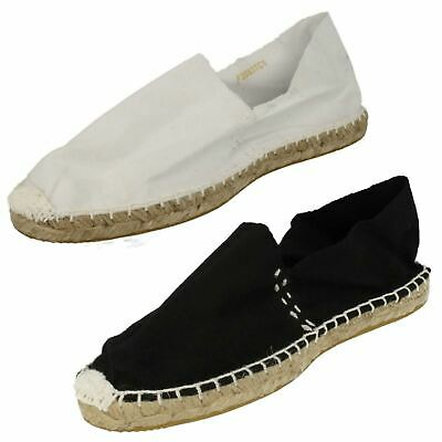 Mens Spot On Espadrille Flat Rope Sole